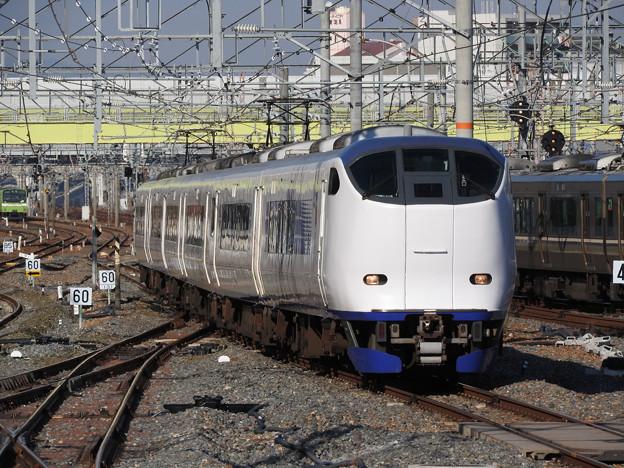 281系特急はるか35号新大阪3番入線
