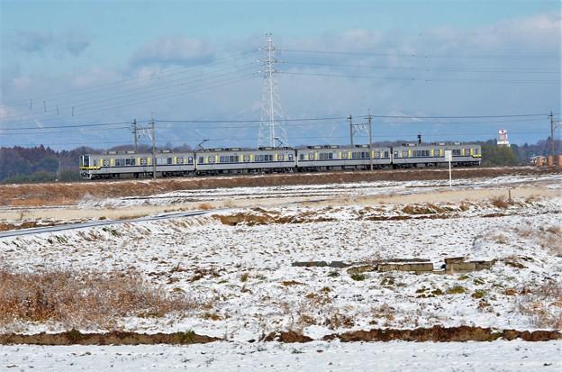 雪の朝 東武宇都宮線