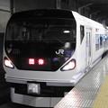 Photos: E257系M-107編成団臨小山9番発車待ち