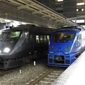 Photos: 夜の博多駅787系・883系並び
