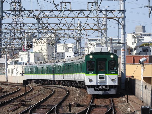 京阪5000系普通萱島行き(回送表示)