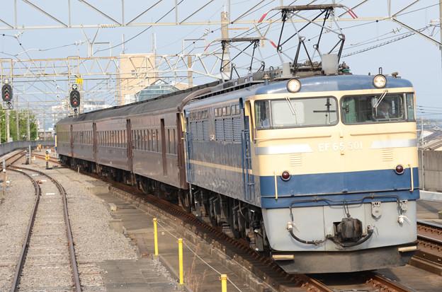 Photos: EF65 501+旧型客車+EF64 37団臨返却回送