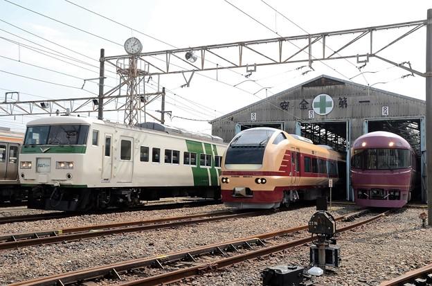 鉄道わくわくフェスティバル in 新前橋展示車両の並び