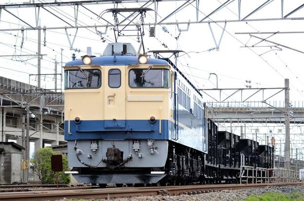 EF65 1105+ホキ4B宇都宮配給8936レ宇都宮貨物(タ)発車
