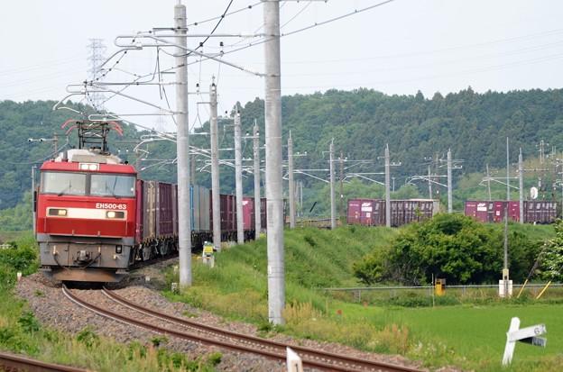 金太郎63号機牽引高速貨物7066レ