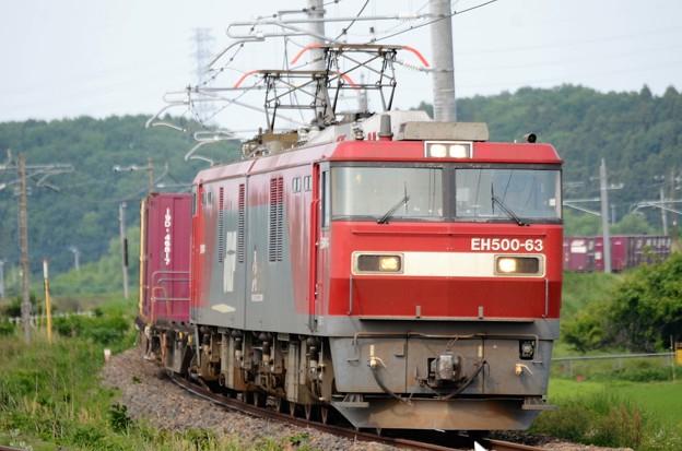 EH500-63号機牽引7066レ