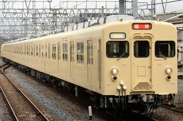 東武セイジクリーム色8111F団臨東武動物公園3番入線