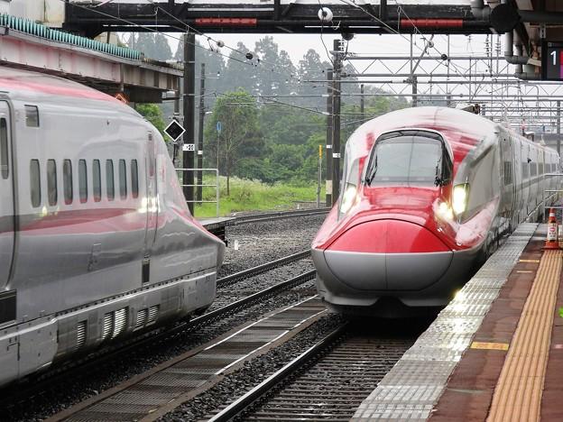 角館E6系こまち号列車交換