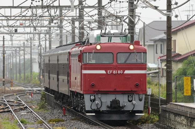 EF81 80号機牽引旧客送り込み回9141レ