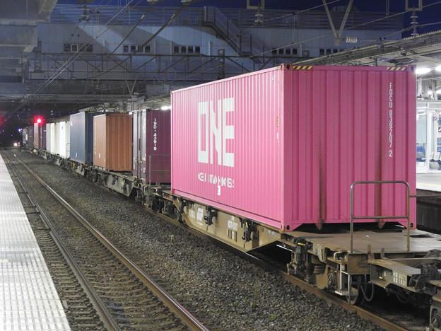 ピンクのONEコンテナ積載4073レ