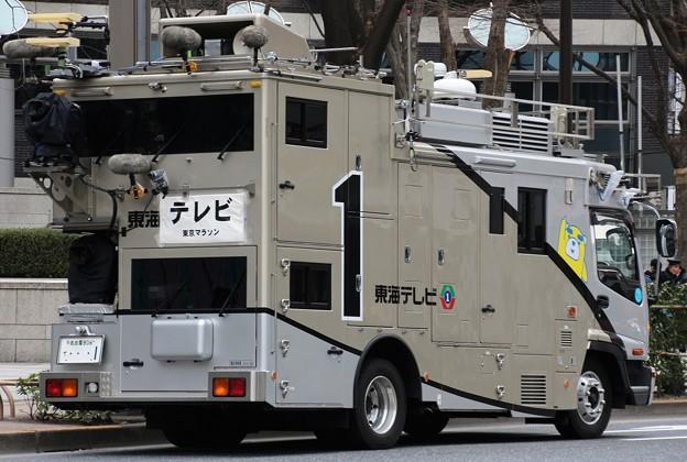 東海テレビ HD移動中継車(後部)