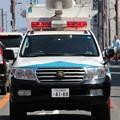 写真: 大阪府警 第一機動隊 現場指揮官車(前部)