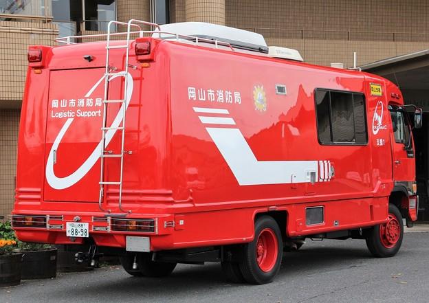 岡山市消防局 支援車(後部)