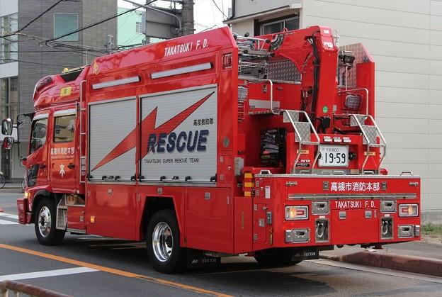 大阪府高槻市消防本部 高度救助隊 lll型救助工作車(後部)