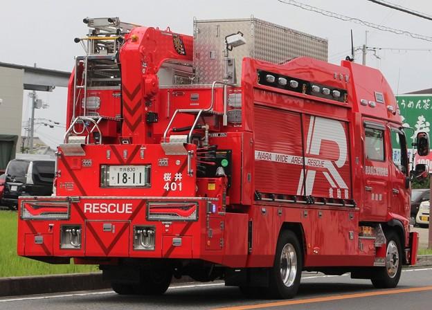 奈良県広域消防組合 ll型救助工作車(後部)