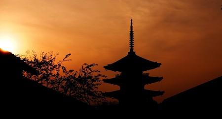 八坂の塔夕焼け