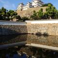 池に映るお城