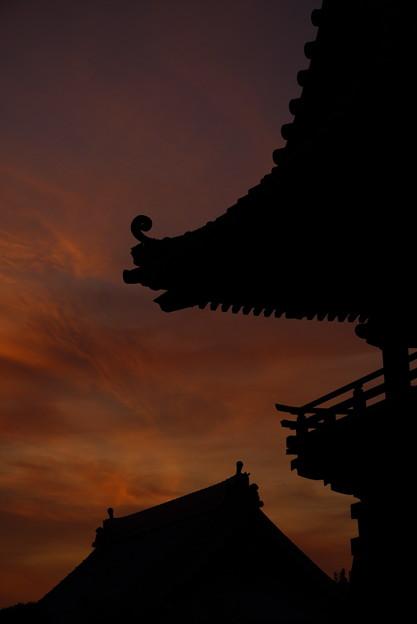 夕焼け空の切り絵