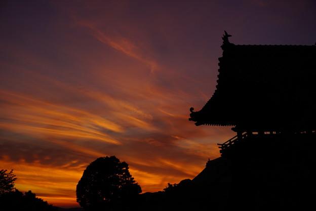 夕焼け空の切り絵 2