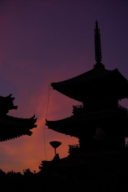 夕焼け空の切り絵 5