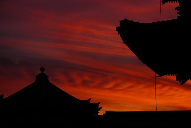 夕焼け空の切り絵 11