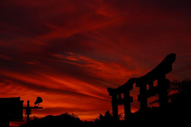 夕焼け空の切り絵 12