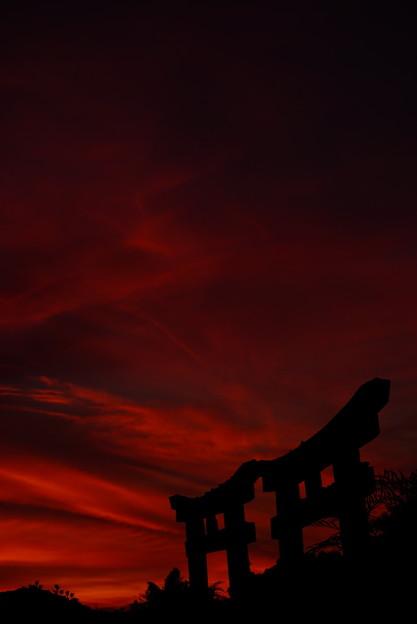 夕焼け空の切り絵 13