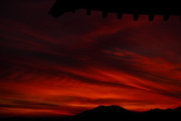 夕焼け空の切り絵 14