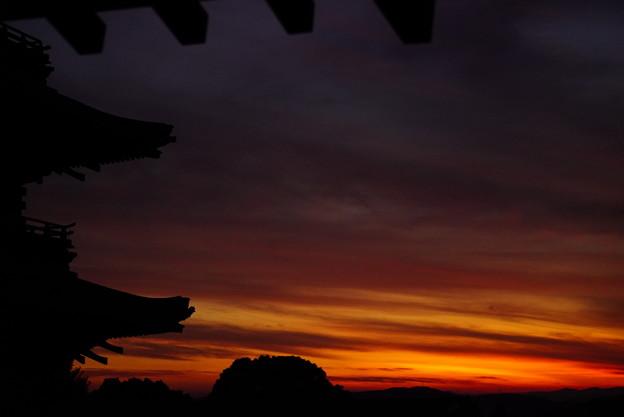 夕焼け空の切り絵 16