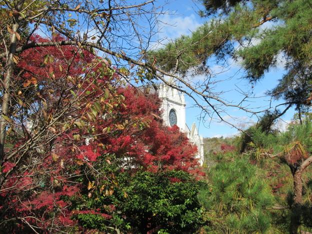 紅葉の天主堂