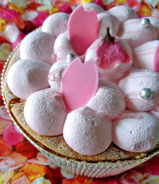 桜のケーキ
