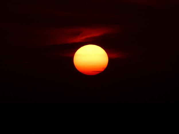 写真: 夕陽@ビーチパーリー