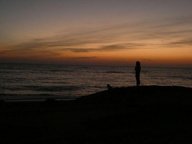 夕陽@ビーチパーリー