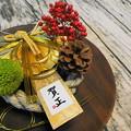 写真: 手作りテーブル花