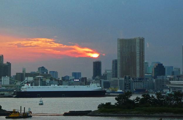 昨日の夕陽夕焼け