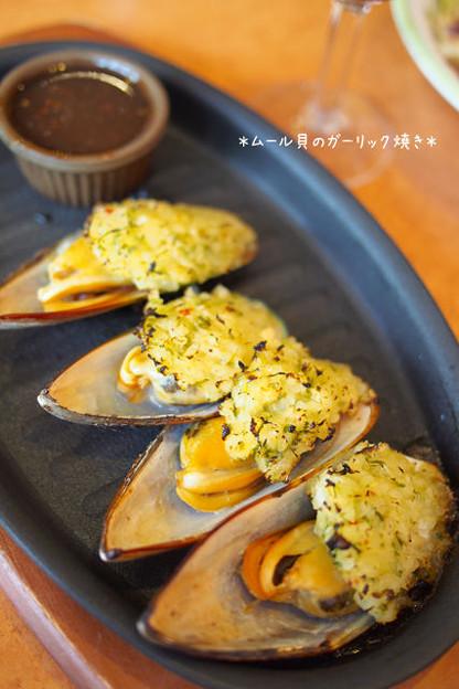 Photos: ムール貝のガーリック焼き