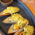 写真: ムール貝のガーリック焼き