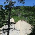 写真: 180726-31再挑戦「霞沢岳登山」・がけ崩れ跡