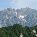 写真: 180726-44再挑戦「霞沢岳登山」・西穂高岳(左)と奥穂高岳