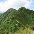 写真: 180726-53再挑戦「霞沢岳登山」・K1ピークからの360度(3/8)・霞沢岳方向
