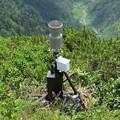 写真: 180726-62再挑戦「霞沢岳登山」・K1ピークにあった雨量計