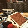 写真: チョコレートシフォンケーキ