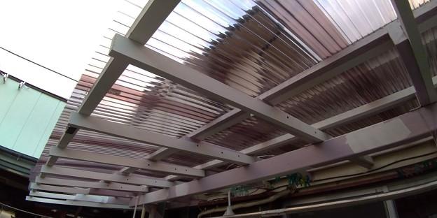 波板交換工事+軒延長2尺