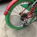 Photos: 自転車タイヤ交換カラータイヤ