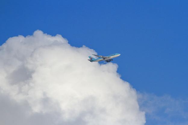 B747 青空と白い雲