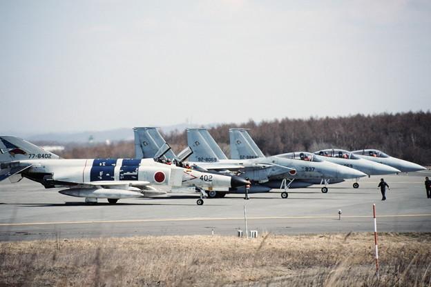 F-4EJ 8402 302sq+F-15J 201sq CTS 1990.04