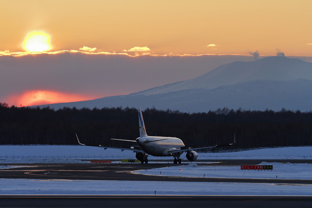 A320 VNLと夕焼け
