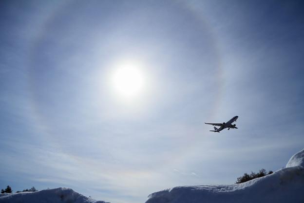 A330に日暈