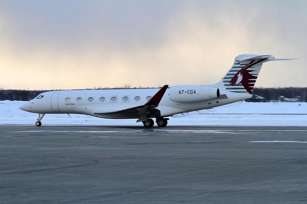 Gulfstream G650ER A7-CGA Qatar Executive spot out(2)
