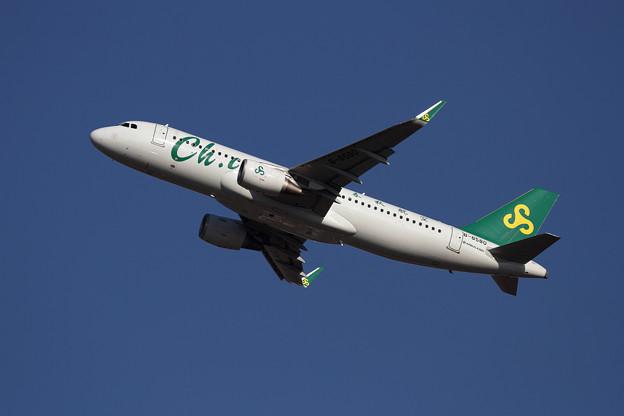A320 春秋航空B-8580 takeoff